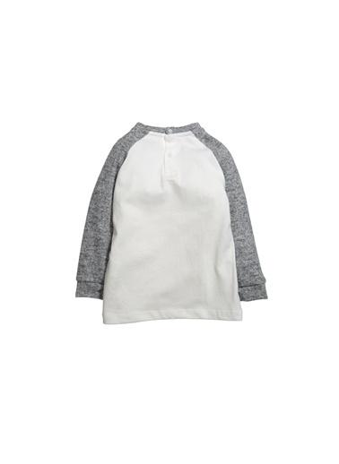 Zeyland Örme Kollu Sweatshirt (9ay-4yaş) Örme Kollu Sweatshirt (9ay-4yaş) Ekru